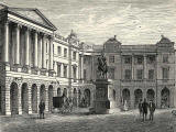 Engraving from 'Old & New Edinburgh  -  Parliament House in Parliamnet Square