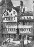 Engraving from 'Old & New Edinburgh'  -  Allan Ramsay's House in the Royal Mile