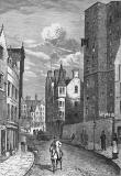 Engraving from 'Old & New Edinburgh'  -  Coockburn Street