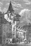 Engraving in 'Old & New Edinburgh  -  The Canongate Tolbooth