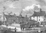 Engraving from 'Old & New Edinburgh'  -  Old Broughton Village