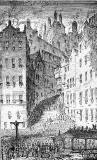 Engraving from 'Old & New Edinburgh  -  The Grassmarket and West Bow