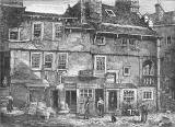 Engraving from 'Old & New Edinburgh'  -  Candelmaker Row