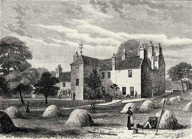 Engraving from 39 old and new edinburgh 39 roseburn house for Classic house edinburgh