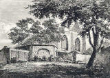 Engraving from 'Old and New Edinburgh'  - Restalrig Church, 1817