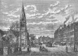 Engraving from 'Old & New Edinburgh'  -  Leith Walk  -  Pilrig