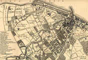 Engraving from 'Old & New Edinburgh'  -  Map of Leith  -  1804