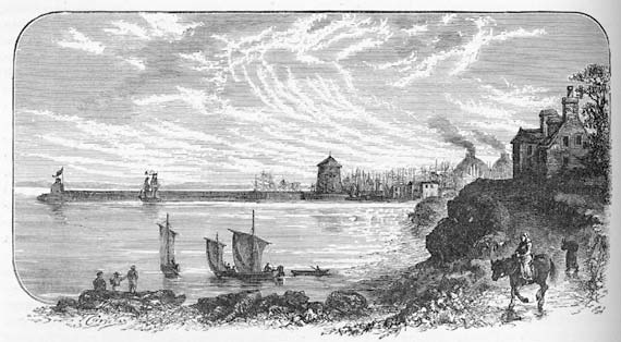 Engraving from 'Old & New Edinburgh'  -  Leith Pier