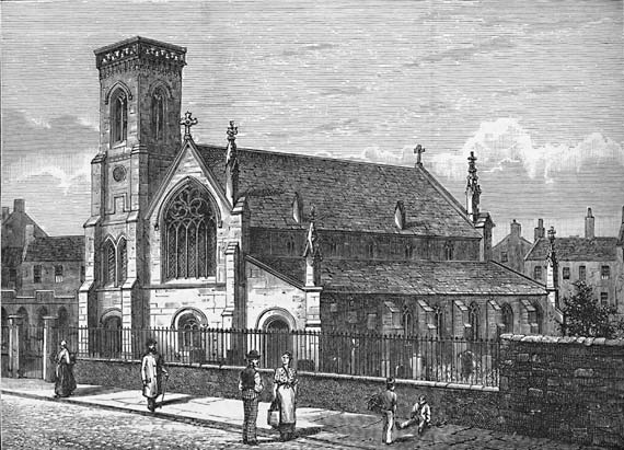 Engraving from 'Old & New Edinburgh'  -  South Leith Church  -  1882