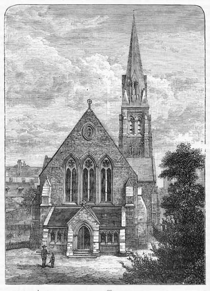 Engraving from 'Old & New Edinburgh'  -  St James Episcopalian Church