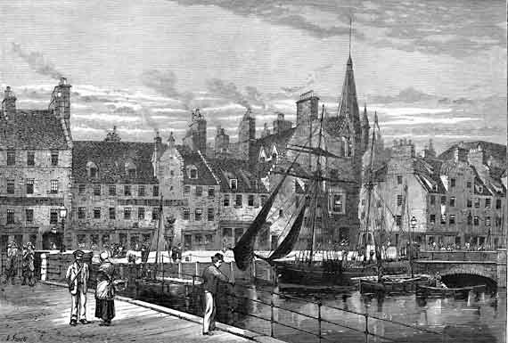 Engraving in 'Old & New Edinburgh'  -  Leith Shore