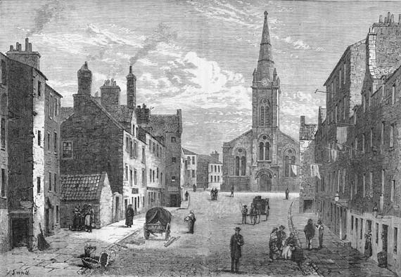 Engraving from 'Old & New Edinburgh'  -  Sheriff Brae, Leith