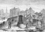 Engraving from 'Old & New Edinburgh'  -  Leith St Ninian's Churchyard