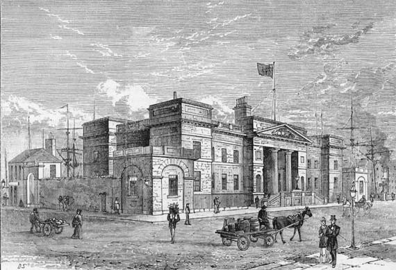 Engraving from 'Old & New Edinburgh'  -  Custom House, Leith