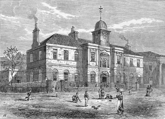 Engraving from 'Old & New Edinburgh'  -  Leith High School
