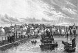 Engraving from 'Old & New Edinburgh' -  Newhaven from the Pier