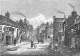 Engraving from 'Old & New Edinburgh'  -  Mewhaven Main Street
