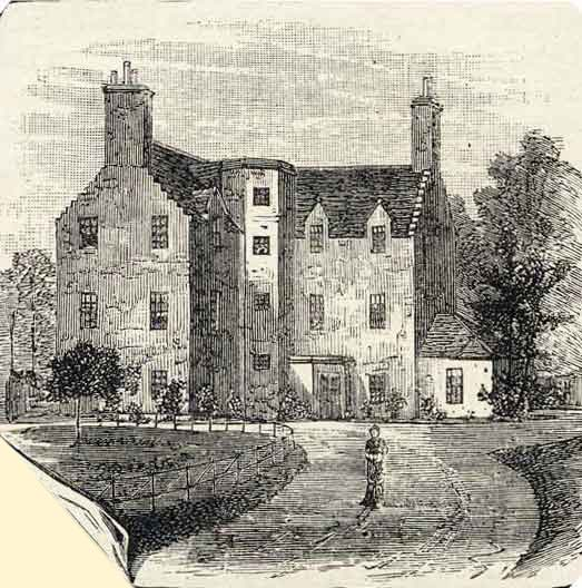 Engraving from 39 old and new edinburgh 39 old saughton house for Classic house edinburgh