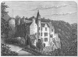 Engraving from 'Old & New Edinburgh  -  Hawthornden