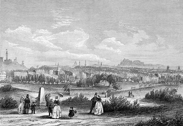 Edinburgh from Warriston Cemetery
