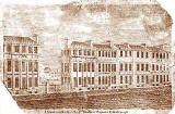 View of the Dumbreck Hotels on the east side of St Andrew Square  -  c.1800