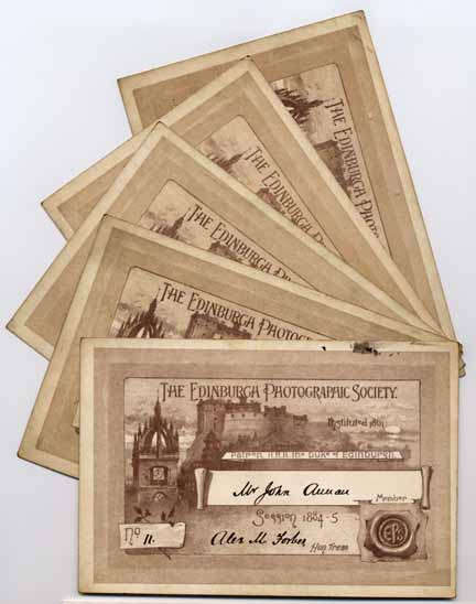 EPS Membership Cards  -  1884-85