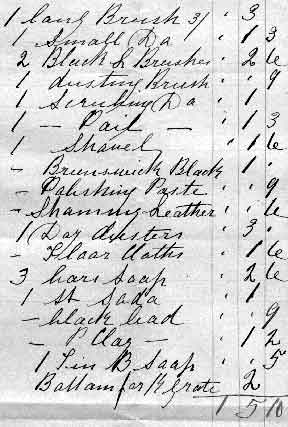 EPS Receipt for Brushes (detail)  -  1892
