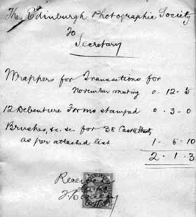 EPS Receipt for Brushes  -  1892