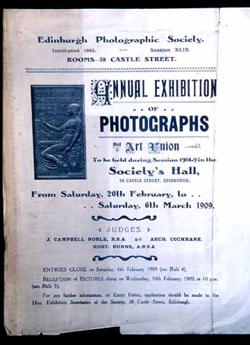 EPS Open Exhibiton Poster  -  1909