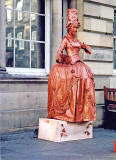 Street Performer in the High Street - Edinburgh, 2002
