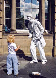 Street Performer in the High Street - Edinburgh, 2003