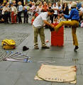 Edinburgh Festival 2003  -  Street Artist  -  Edscapologist at Hunter Square