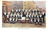 17th Lancers at Piershill Barracks  -  On Parade  -  A&G Taylor Postcard, posted 1905