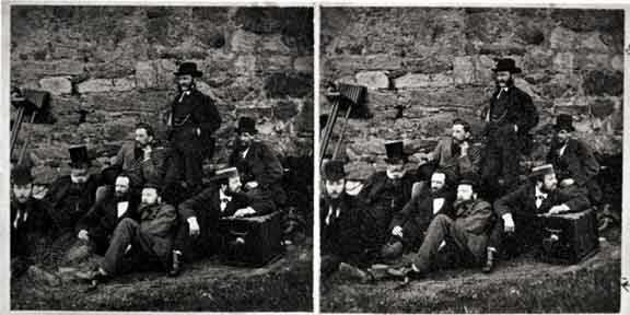Stereo Pair of Photographs  -  PSS Outing 1856