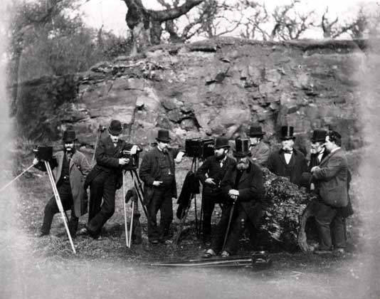 EPS Outing to Cadzow Forest (close-up)  -  1877