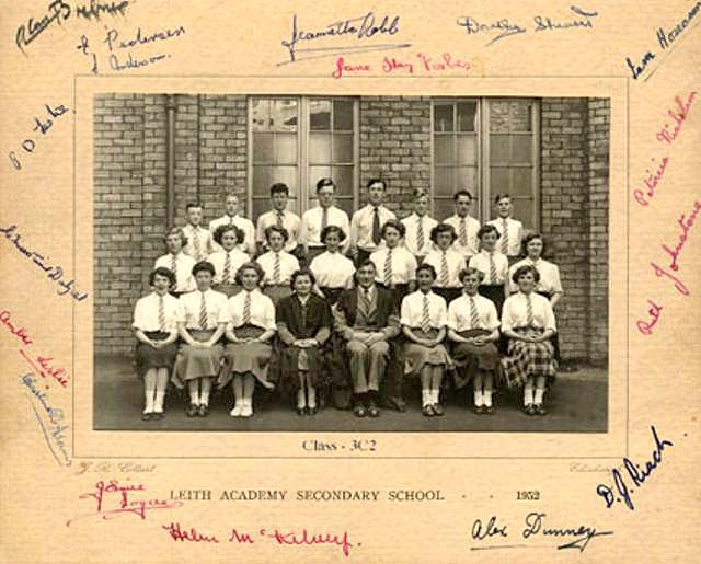 Class 3C2 at Leith Academy Secondary School, 1952
