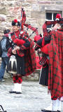 James Robertson, one of the pipers from The Black Kilts Pipe Band on their visit to Edinburgh, 2012