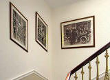 Three Boys' Brigade photos, hanging on the staircase of the Leith Boys' Brigade Batallion HQ at The Pavilion, Ferry Road, Leith