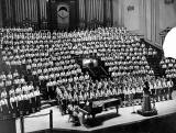Broughton Secondary School Choir at Usher Hall, around 1952