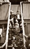 Three boys on the Burntisland Ferry - Photo probably taken around Summer 1949