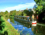Barge on the Union Canal  -  1990s