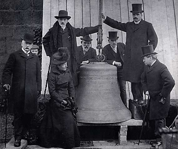 Raising of the Church Bell at St Cuthbert's Church  -  1902
