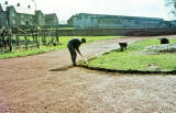 Preparing the new track at Fernieside for Liberton Lions at   -  1967 or 1968