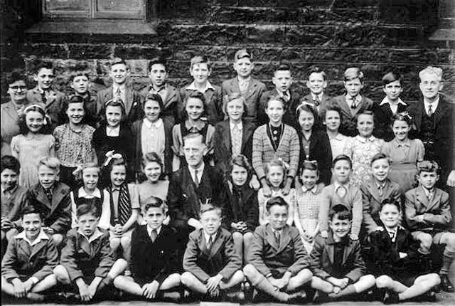 Senior class at Dr Bell's School, Great Junction Street, Leith  -  1946