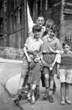 A group of six children at Dumbiedykes in the mid-1950s