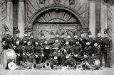 Edinburg City Royal Garrison Artillery Band outside George Heriot's School.  When might this photo have been taken?
