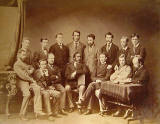 Photograph by J Howie Junr  -  Group of 15  -  Possibly Edinburgh University Medical Students