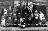Twenty-seven children in the street in Horne Terrace, around 1926-27