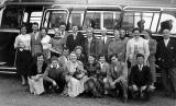Staff from the Jaeger shop in Princes Street on a coach outing - 1956