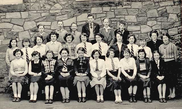 A school class at James Cark School, St Leonards, 1955